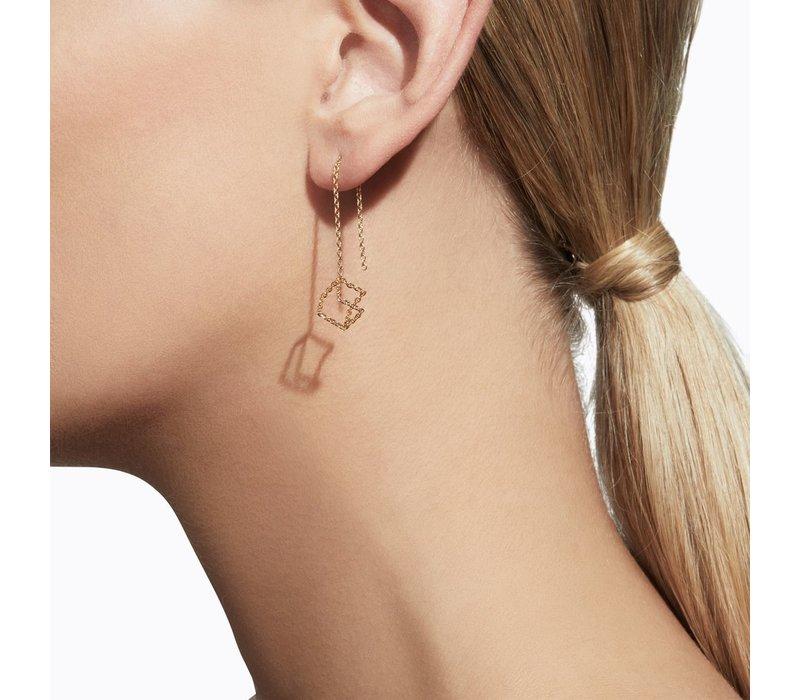 Shihara Cube Chain Pair Earrings 04s