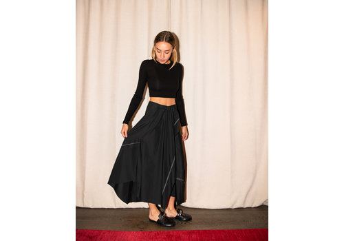 Flare Poplin Skirt