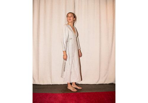 Bonded Linen Utility Dress