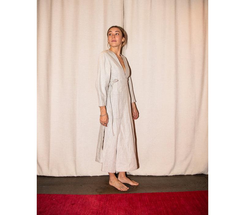 Christopher Esber Bonded Linen Utility Dress