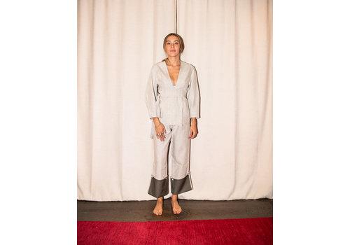 Bonded Linen Cuffed Trouser