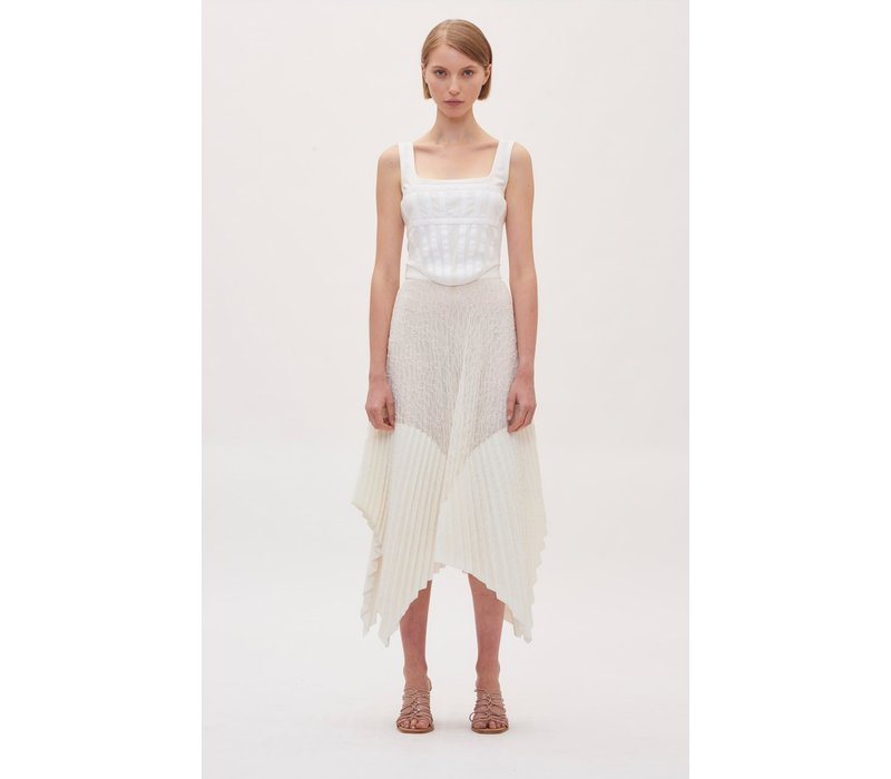 Dion Lee Vein Lace Pleated Skirt
