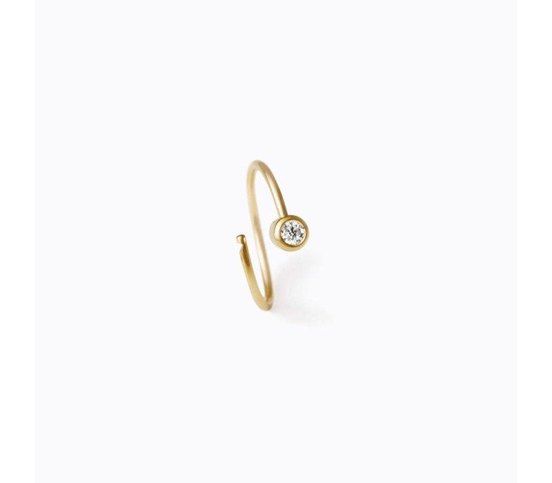 Shihara One Stone Hoop Earring 12mm