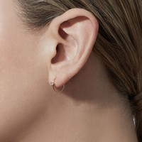 Shihara One Stone Hoop Earring 12mm