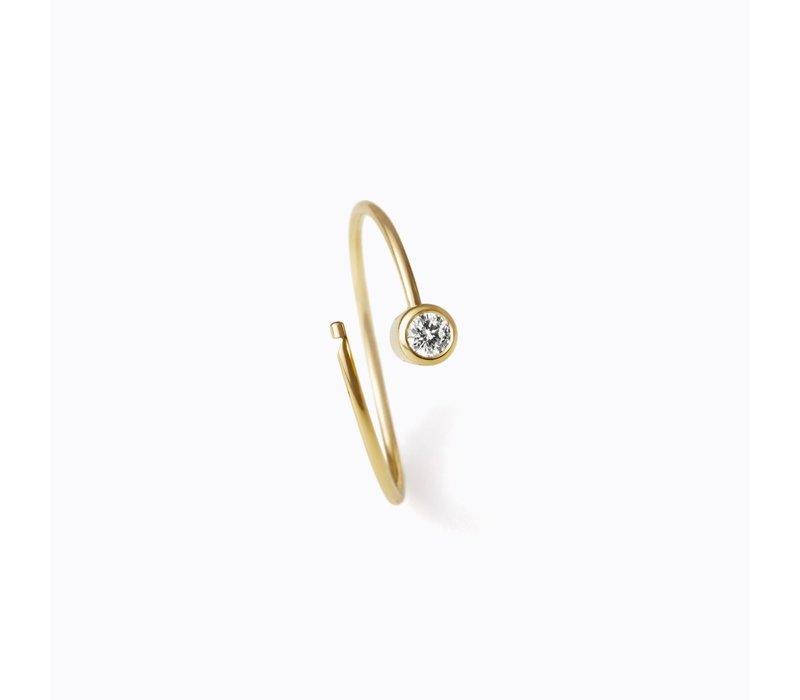 Shihara One Stone Hoop Earring 17mm