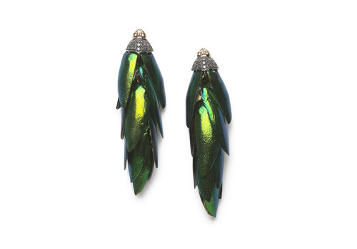 Bibi Van Der Velden Scarab Bunch Earrings