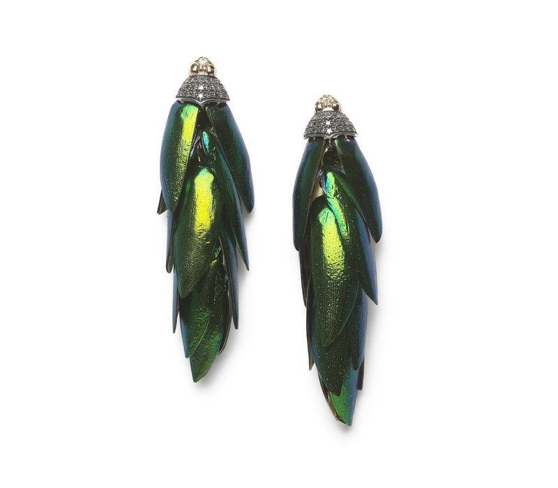 Bibi Van Der Velden Scarab Bunch Earrings