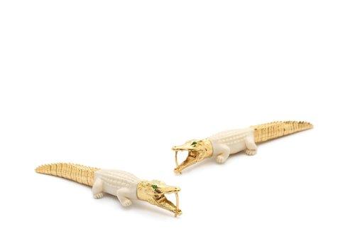 Bibi Van Der Velden Mammoth Alligator Bite Earrings