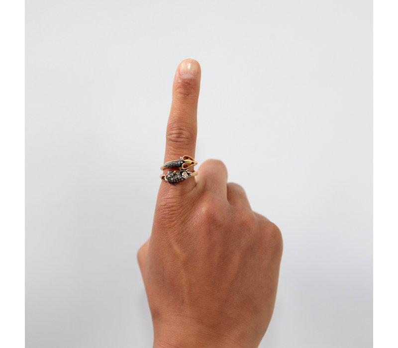 Bibi Van Der Velden Monkey Stackable Ring