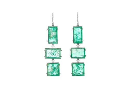 Muzo Emeralds Triple Drop Atocha Earrings
