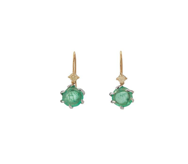 Muzo Emeralds Muisca Earrings