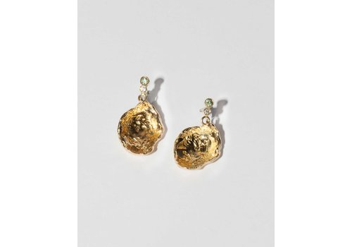 Nadia Shelbaya Fossil Sapphire Earrings