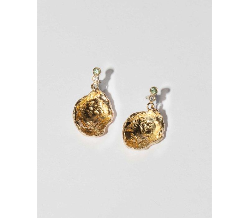 Nadia Shelbaya Fossil Sapphire Earrings