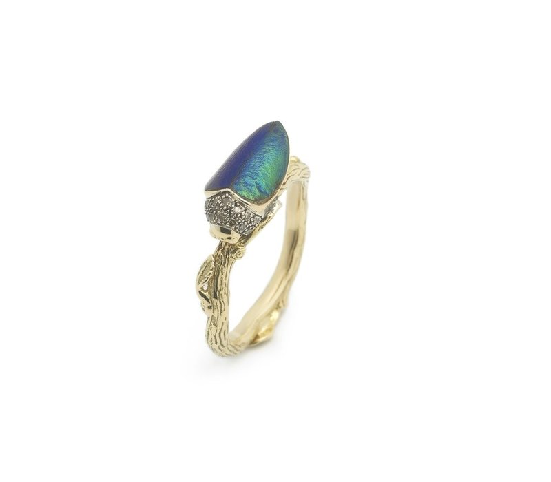 Bibi Van Der Velden Scarab Wings Ring