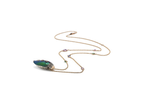 Bibi Van Der Velden Scarab Pop Art Necklace