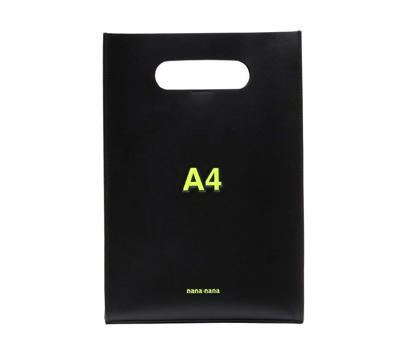 nana-nana Neon Leather A4 Bag