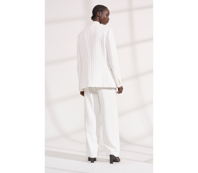 Dion Lee Pinstripe Whitewash Blazer