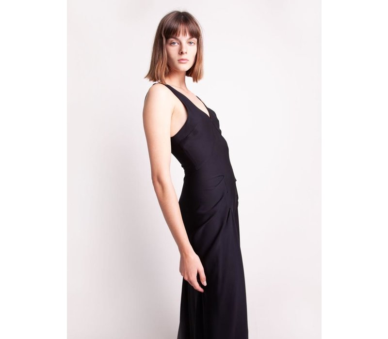 Christopher Esber V-Neck Tuck Tank Dress