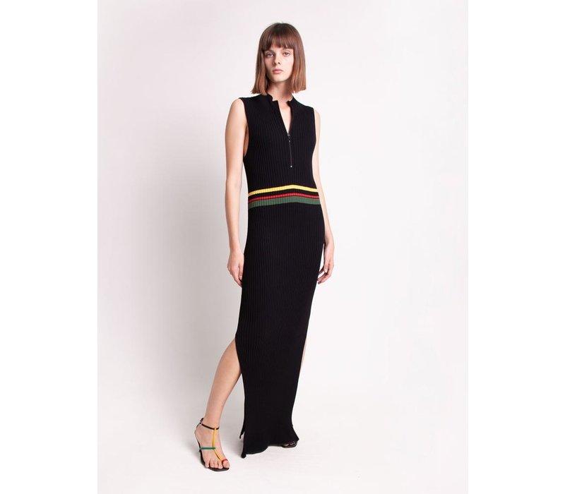 Christopher Esber Zipped Multi Stripe Tank Dress