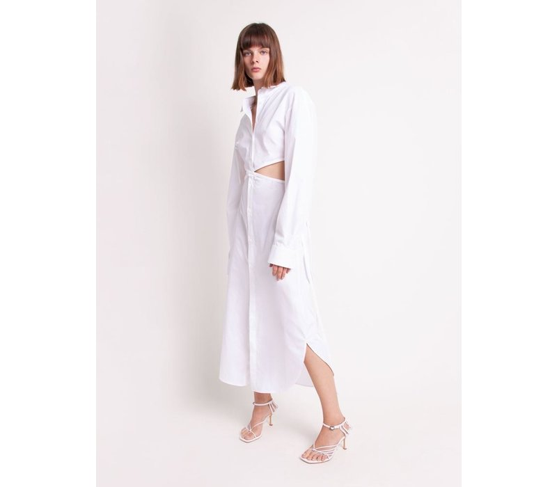 Christopher Esber Wrapped Tie Shirt Dress
