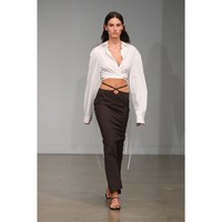 Christopher Esber Wrapped Cropped Tie Shirt