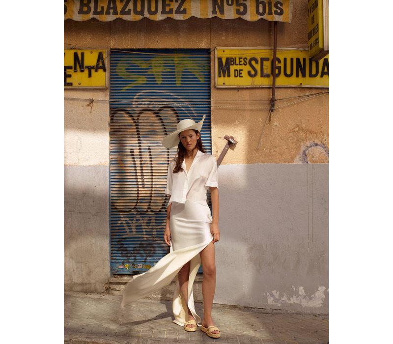 Alejandra Alonso Rojas Hand Dyed Satin Silk Skirt