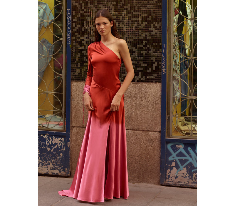 Alejandra Alonso Rojas Asymmetrical Silk Gown