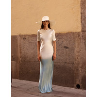 Alejandra Alonso Rojas Hand Dyed Satin Silk Gown