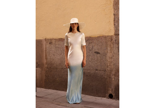Alejandra Alonso Rojas Hand Dyed Satin Silk Gown