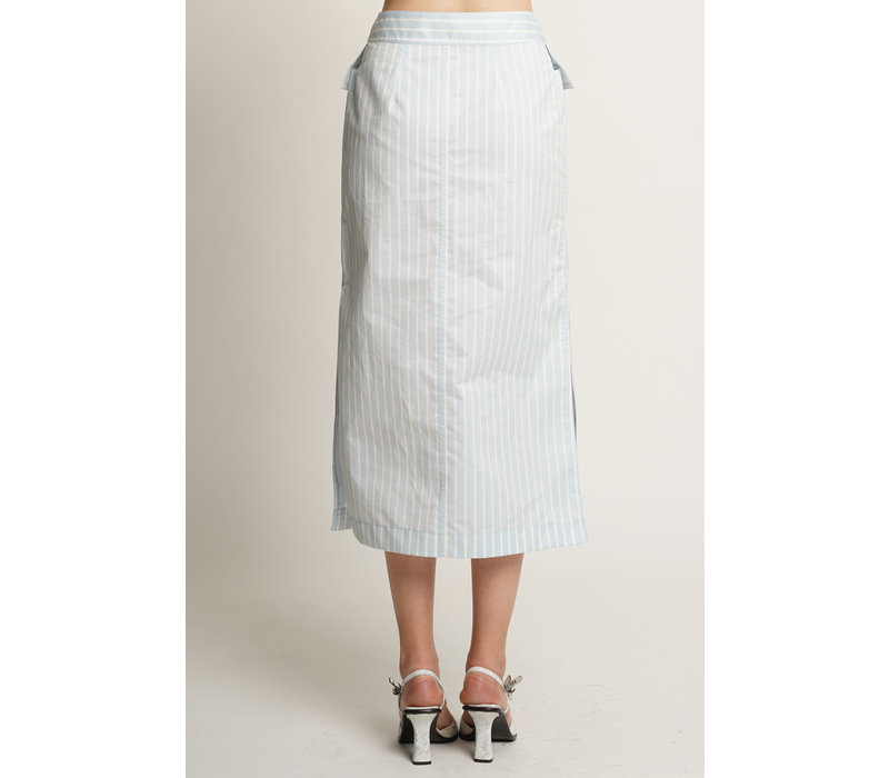 Sies Marjan Jacquetta Striped Midi Skirt
