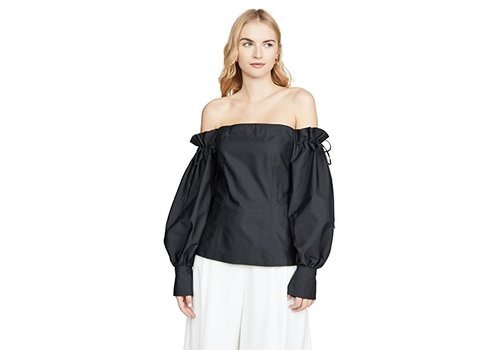 Adeam Off Shoulder Drawstring Top