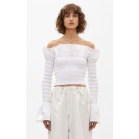 Dion Lee Shirred Cotton LS Top