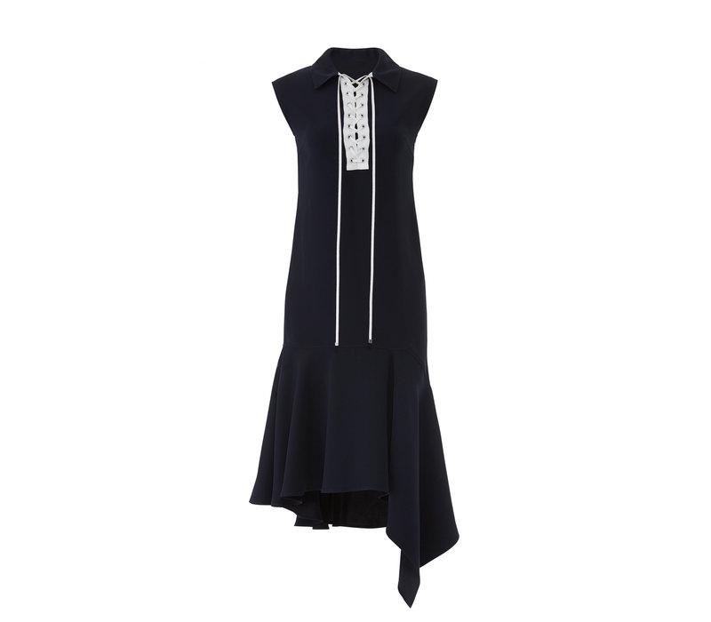 Adeam Lace Up Handkerchief Dress