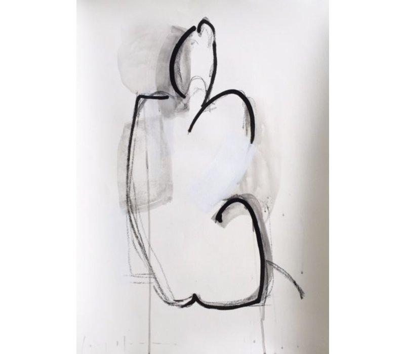 """Kate Long Stevenson """"Untitled in Black II"""" Framed"""