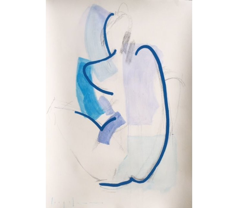 "Kate Long Stevenson ""Untitled in Blue I"" Framed"