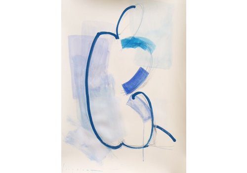 "Kate Long Stevenson ""Untitled in Blue II"" Framed"