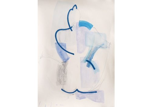 "Kate Long Stevenson ""Untitled in Blue III"" Framed"