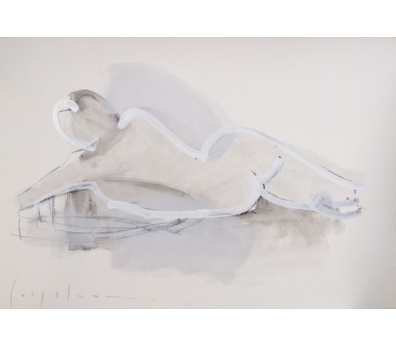 "Kate Long Stevenson ""Untitled in White II"" Framed"