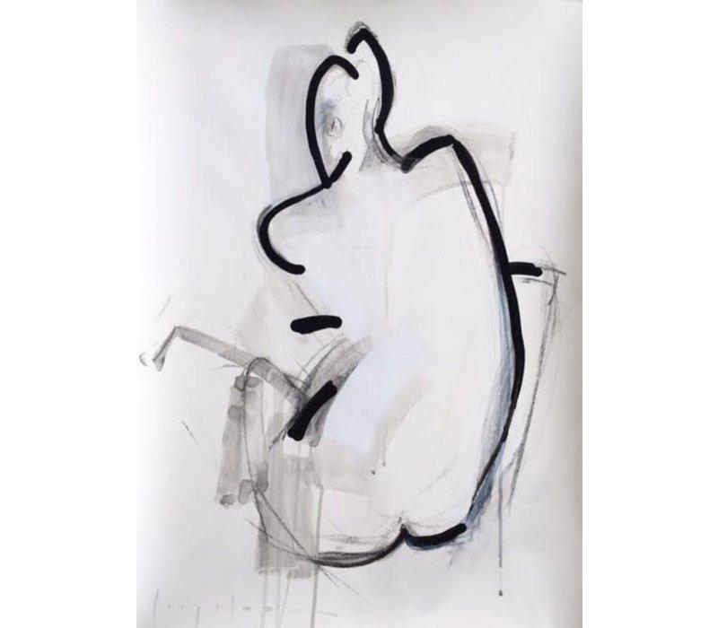 """Kate Long Stevenson """"Untitled in Black I"""" Framed"""