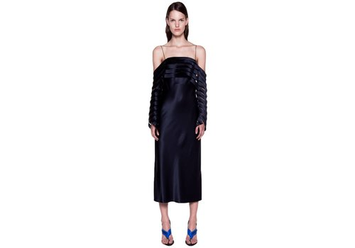 Dion Lee Suspended Lace Spiral Sleeve Dress