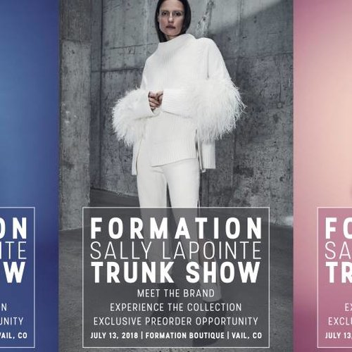 Sally LaPointe Trunk Show At Formation July 2018