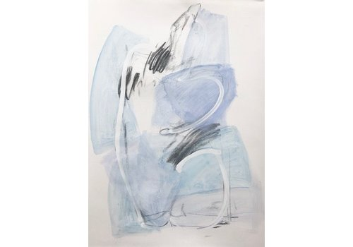 "Kate Long Stevenson ""Untitled III, Blue Nude"" Framed"