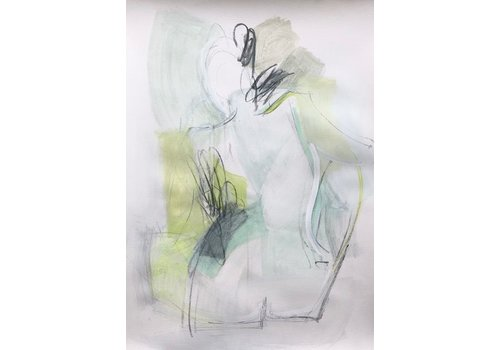 "Kate Long Stevenson ""Untitled IV, Green Nude"" Framed"
