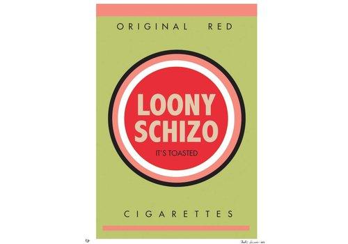 """""""Bad Habits: Loony Schizo"""" Unframed"""
