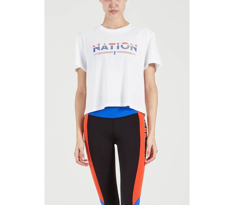 PE Nation Point Flag Tee