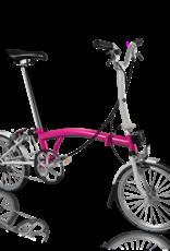 2019 Brompton M3L Hot Pink/Papyrus White w/ Marathon Tires