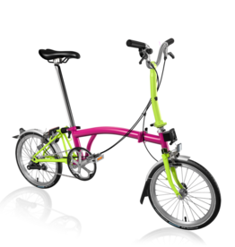 2019 Brompton M3L Hot Pink/Lime Green