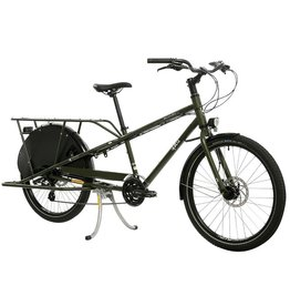 Yuba Mundo Lux Cargo Bike Matte Olive