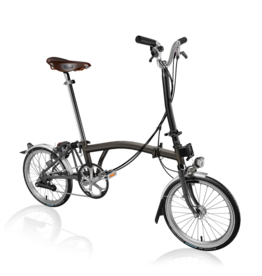 2021 Brompton H6L Black Lacquer w/ Dynamo Lighting