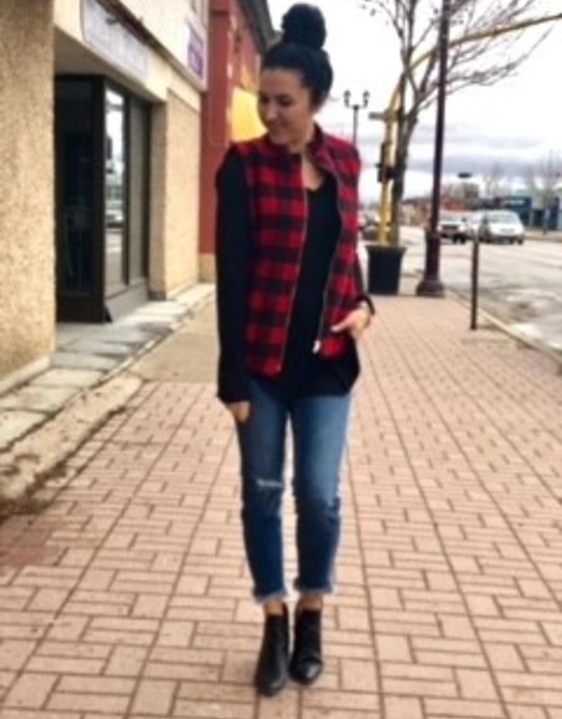 LOSA Flannel Buffalo Vest